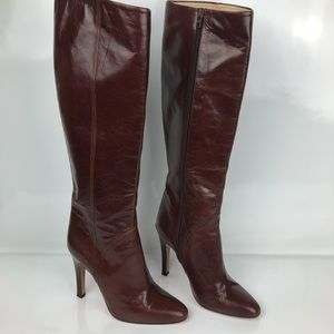 97c083cbea0 Womens Knee high Boot Brown 8.5 M Made In Italy